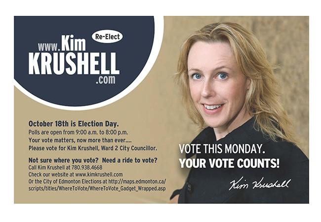 Kim Krushell Election Campaign (Handout)