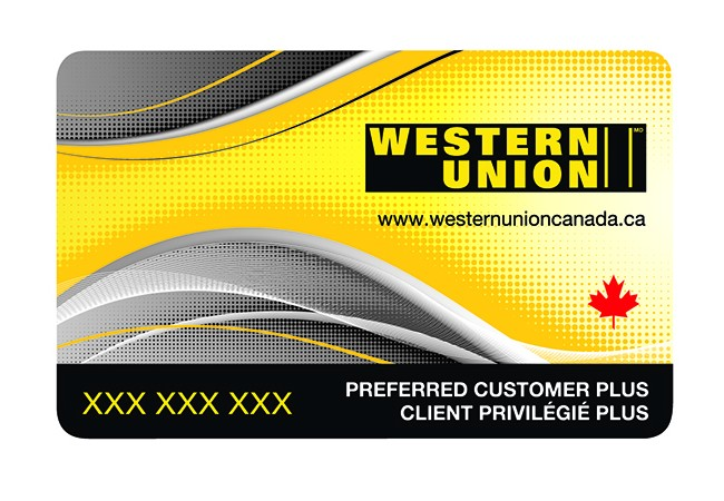 Western Union Loyalty Card